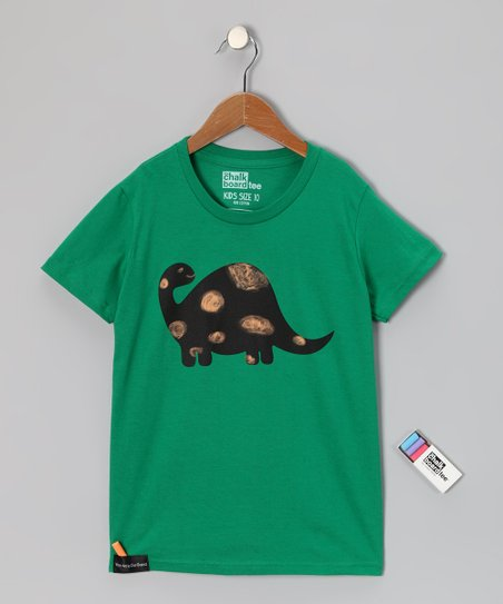 Kelly Green Brontosaurus Chalkboard Tee - Toddler &amp; Kids