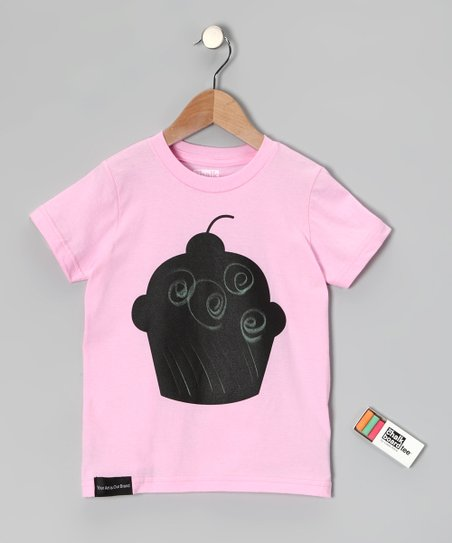 Pink Cupcake Chalkboard Tee - Toddler &amp; Kids