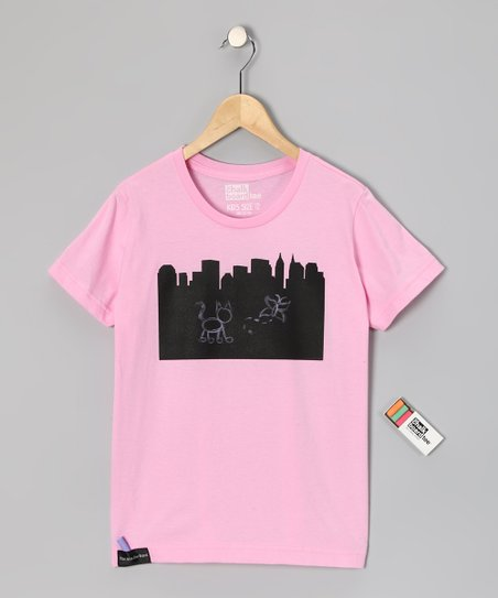 Pink City Chalkboard Tee - Toddler & Kids
