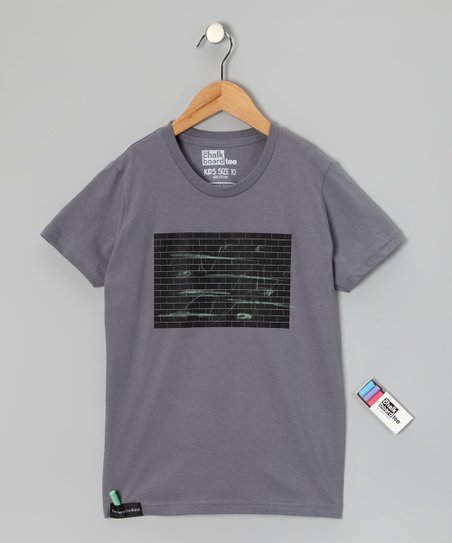 Slate Brick Wall Chalkboard Tee - Toddler & Kids
