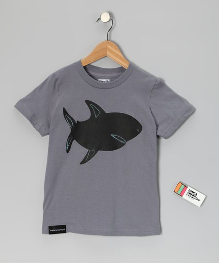 Slate Shark Chalkboard Tee - Toddler & Kids