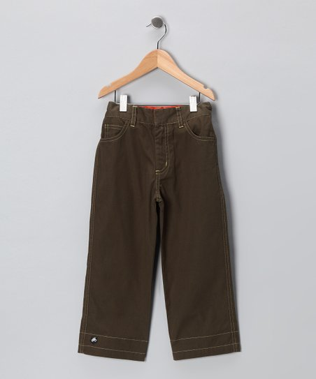 Olive Achtung! Trousers - Infant, Toddler &amp; Boys