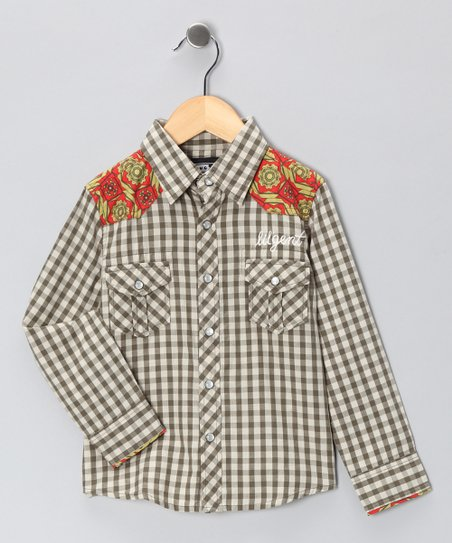 Olive & Cream Gentleman's Western Button-Up - Boys