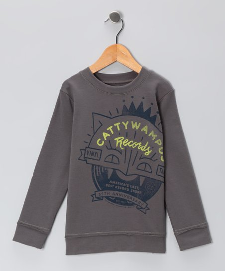 Steel Gray &#039;Cattywampus&#039; Sweatshirt - Toddler &amp; Boys