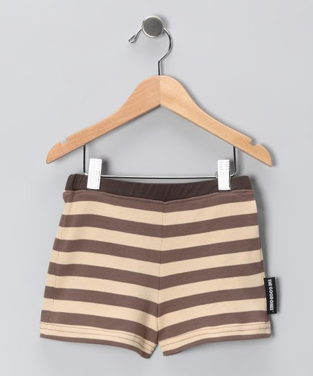 Peach & Tan Lil' Rock Shorts - Infant