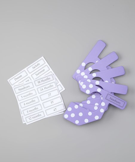 Light Purple & White Polka Dot Closet Divider Set - Infant & Toddler