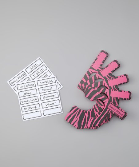 Hot Pink & Black Zebra Closet Divider Set - Kids