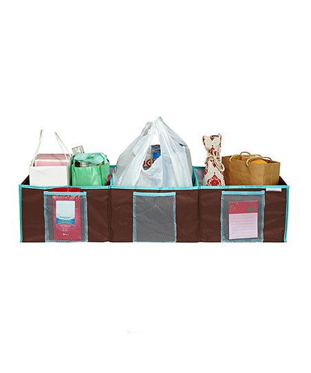 Chocolate Three-Compartment Trunk Organizer
