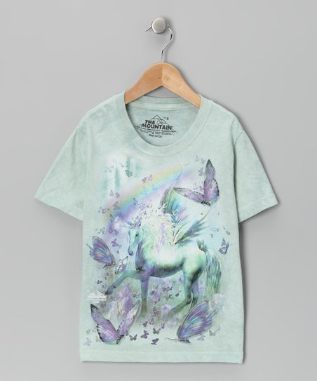 Mint Unicorn &amp; Butterflies Tee - Toddler &amp; Girls