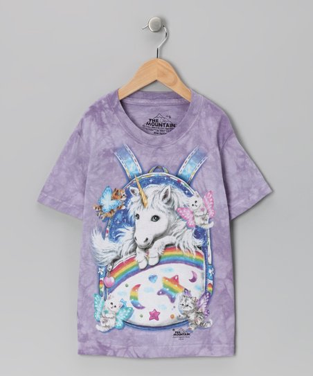 Purple Backpack Unicorn Tee - Toddler & Girls