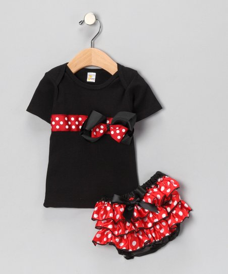 Red Polka Dot Tee & Diaper Cover - Infant & Toddler