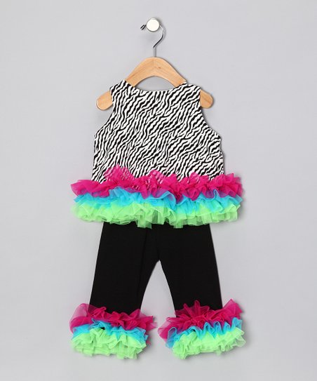The Princess and the Prince Zebra Tunic & Leggings - Infant