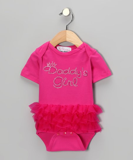 Pink 'Daddy's Girl' Ruffle Bodysuit - Infant