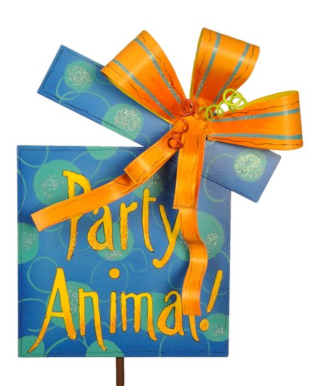Blue & Yellow 'Party Animal' Stake