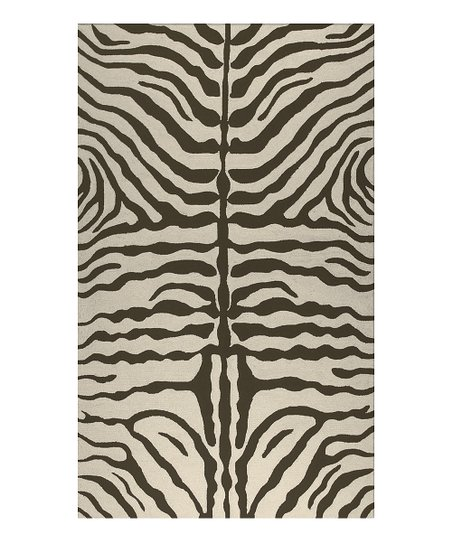 Brown Zebra Indoor/Outdoor Rug