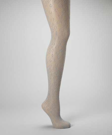 Gray Leopard Fishnet Tights