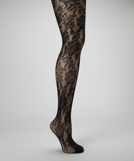 Black Rose Fishnet Tights