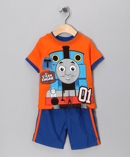 Orange Thomas 'Steam Engine' Tee & Shorts - Infant