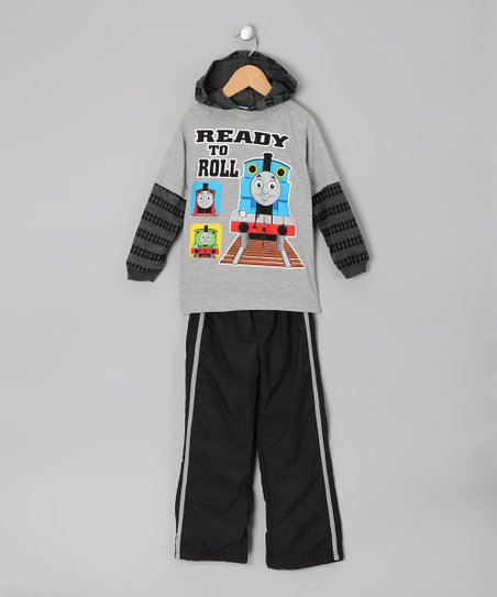 Gray Thomas Tee &amp; Track Pants - Toddler
