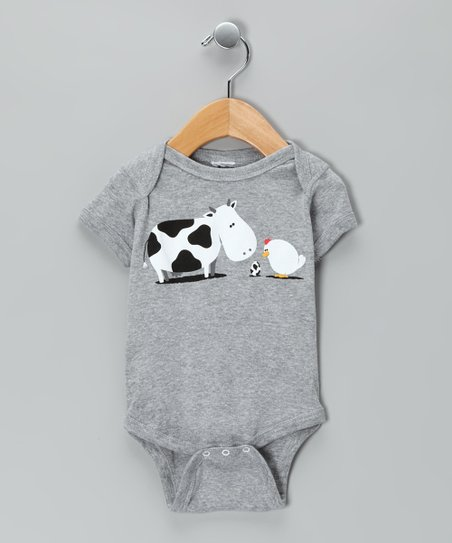 Heather Gray A Birth Day Bodysuit - Infant