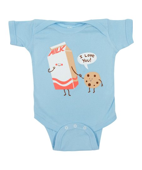 Baby Blue Cookie Loves Milk Bodysuit - Infant