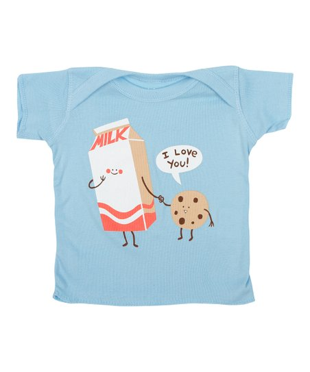 Light Blue Cookie Loves Milk Tee - Infant