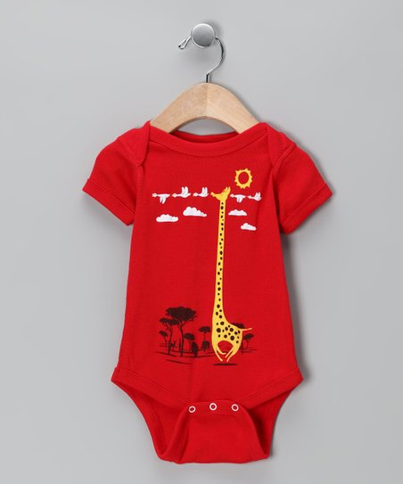 Red I'm Like a Bird! Bodysuit - Infant