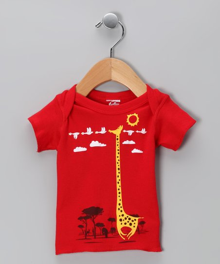 Red I'm Like a Bird! Tee - Infant