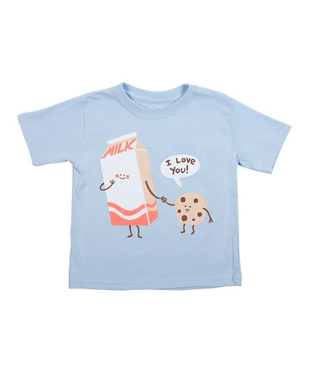 Light Blue Cookie Loves Milk Tee - Toddler & Kids