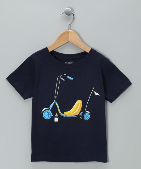 Navy Junior Biker Tee - Toddler & Kids