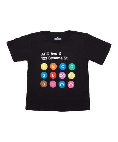 Black 'ABC Ave & Sesame Street' Tee - Kids