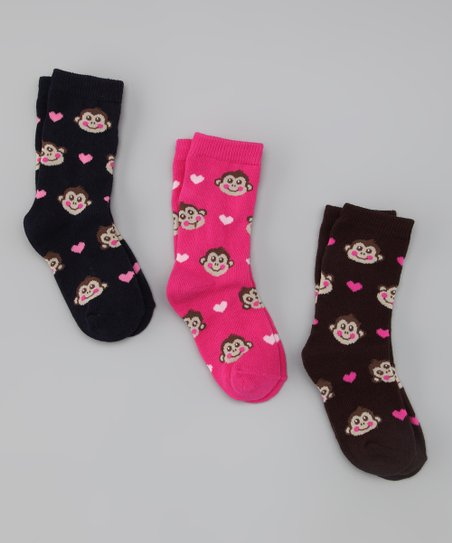 Monkey Heart Socks Set