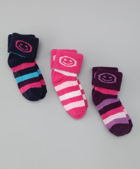 Fuzzy Smile Socks Set