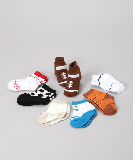 Blue Sport Tennis Shoe Socks Set