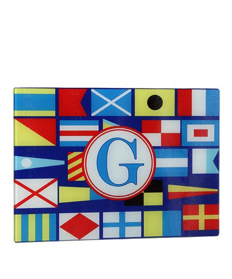 Sailing Flag Initial Cutting Board