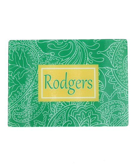 Mod Paisley Personalized Cutting Board