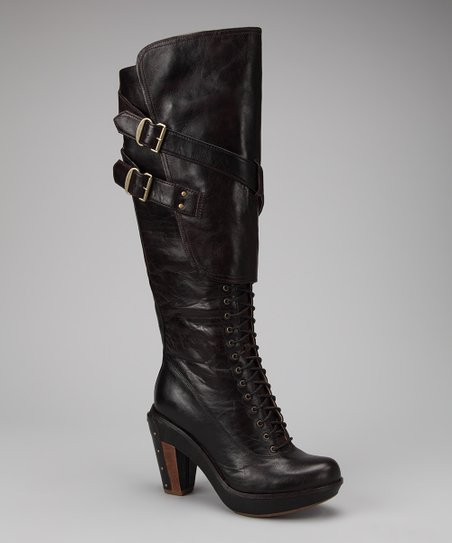 Brown & Black Marge Wood Tall Boot
