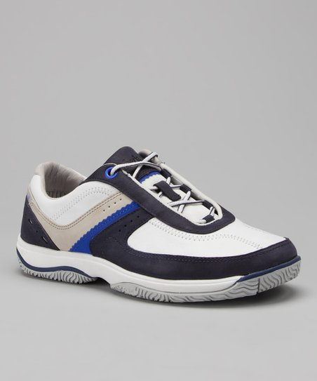 Graystone Blue & White Formentor Boating Sneaker