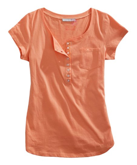 Tin Haul Tangerine Orange Henley