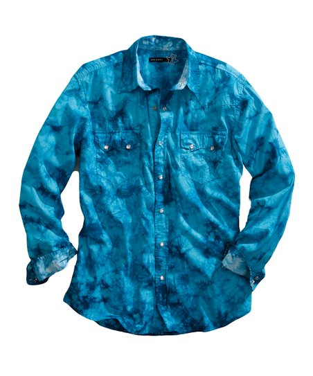 Turquoise Blue Button-Up