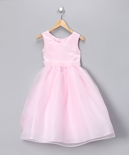Pink Flower A-Line Dress - Toddler & Girls