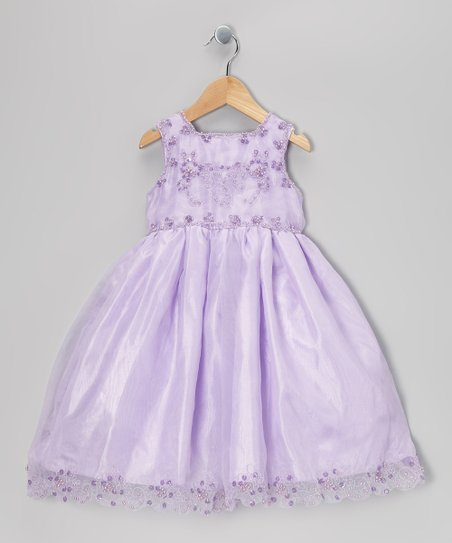 Lilac Beaded Babydoll Dress - Infant