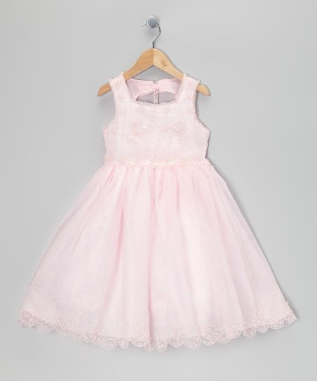 Pink Beaded Babydoll Dress - Infant