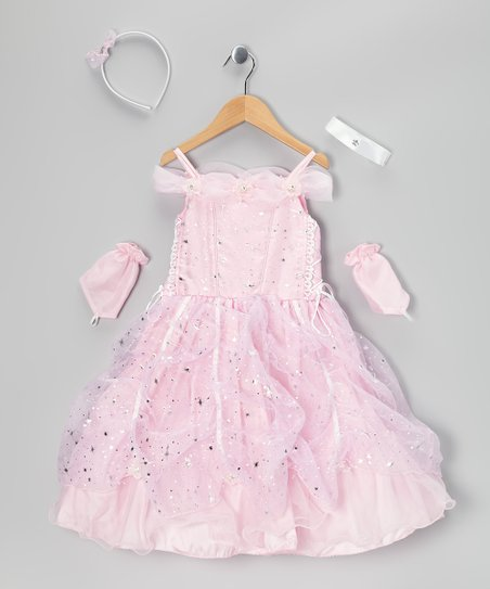 Pink Star Pick-Up Dress Set - Toddler & Girls