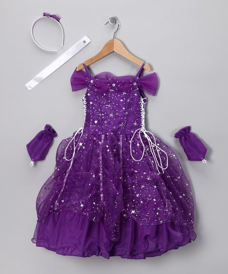 Purple Star Dress Set - Toddler & Girls