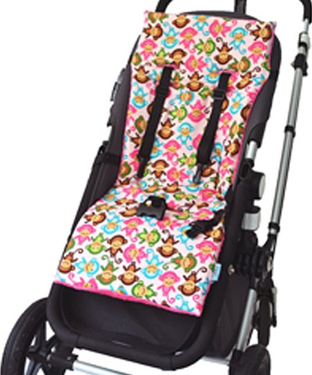 Pink Silly Monkeys NuComfort™ Reversible Stroller Liner