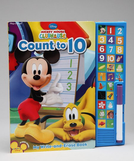 Mickey Mouse Count to 10 Write & Erase Sound Board Book