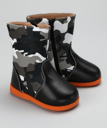 Black Lil&#039; Soldier Squeaker Boot