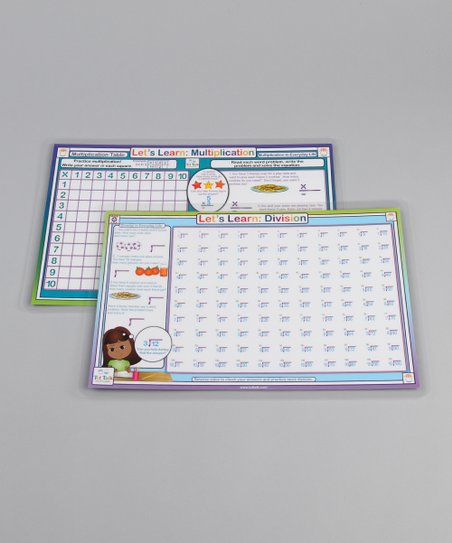 Multiplication & Division Place Mat Set