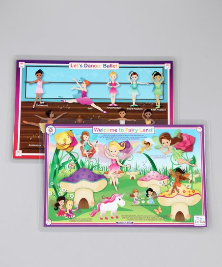 Ballet & Fairy Land Activity Place Mat Set